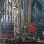 Doncaster Minster, acrylic on board
