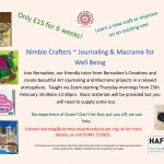 Nimble Crafters - Journaling and Macrame for Wellbeing