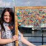 Artist Jo Atherton weaves with materials gathered on UK beaches