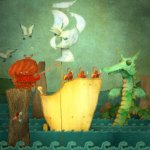 Sea scene from Galdo's Gift - The Boovie (iBook)