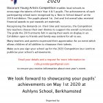 DYA 2020 Exhibition will be at Ashlyns School 2nd May 2020