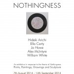 Nothingness, an exhibition at Parndon Mill Gallery