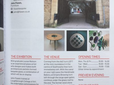 ARTWEEK: EXHIBITION - BESPOKE GLASS & FURNITURE