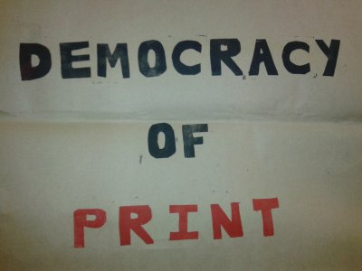 Democracy of Print - WYPW Pop up shop