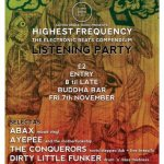 HIGHEST FREQUENCY LISTENING PARTY