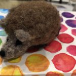 Needle felted hedgehog with June Durrant