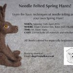 Needle Feting Workshop Spring Hares!