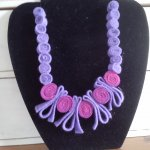 Rolled Felt Necklace