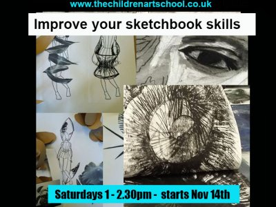 Saturday Artschool online sketchbook workshops