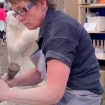 Stone carving demonstration at the Birmingham NEC