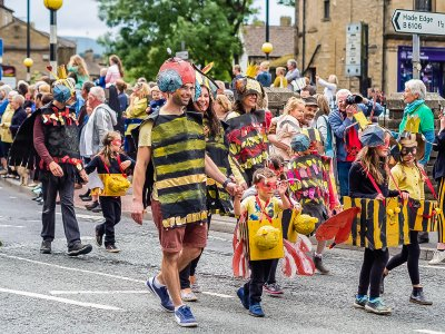 Textile Banner Parade at Holmfirth Arts Festival 2019