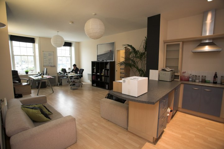 A live/work multiple room apartment