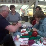 Loom Knitting workshop with Richard from greenfusions