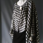 Rectangle Cape Coat- Monochrome Dogtooth