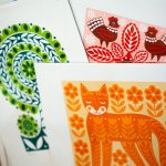 Screen prints by Karoline Rerrie