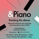 &Piano Breaking the Silence - Sept 2020 livestreams announced