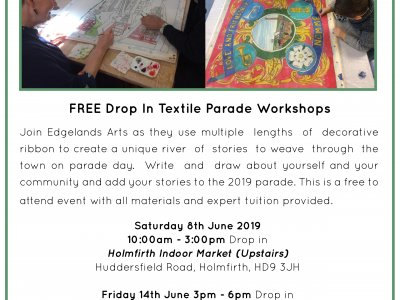 FREE Drop In Workshops for Holmfirth Arts Festival Parade 2019