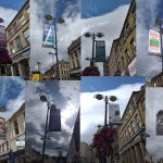 New banners in Huddersfield Town Centre