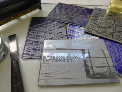 Photo-Etching Weekend – September