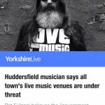 Yorkshire Live article. Pat Fulgoni / Music Venue Trust