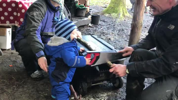 Little One Sawing