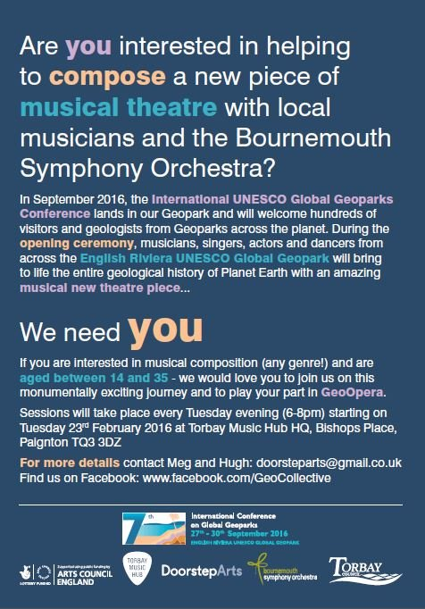 GeoOpera - call out young musicians needed