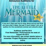 Auditions for Disneys The little Mermaid Jr age 4-19yrs