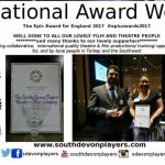 Press release: The South Devon Players win national arts award