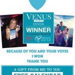 Winner of the Venus Business Mother of the Year in Devon 2015