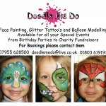 Doodle Me Do / Face Painter - Glitter Tattoos and Balloon Modelling Parties
