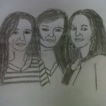 My art..Sylvie, Alex and Pam